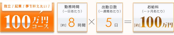 100万円コース